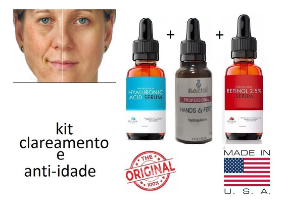 Serum Hialuronico Hidroquinona E Retinol Clareador Manchas