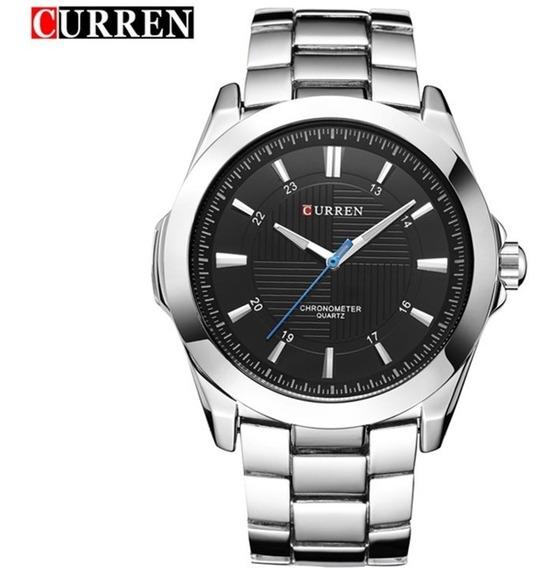 Relógio Masculino Curren M8109 Original Social Pulseira De Aço Qualidade Muito Boa Frete Grátis