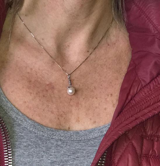 Conjunto Vivara Brincos E Pingente, Ouro, Pérola E Diamantes