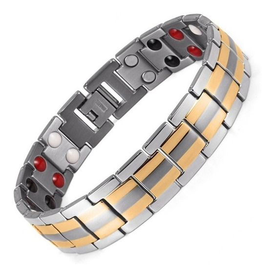 Pulseira Aço Magnetica Bracelete Imas - Envio 24h