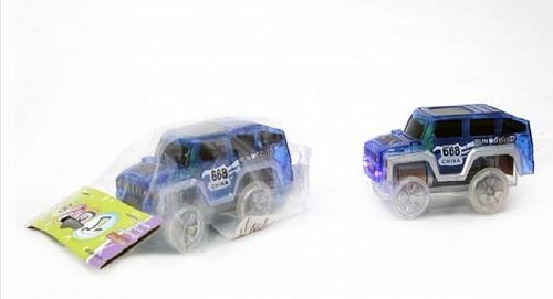 Imagen 1 de 7 de Auto Azul Con Luz Para Pista Flexible Luminosa Faydi E.full