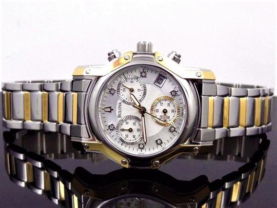 Bulova 98p120 Original, Mostrador Segundo, Minuto, Hora/dia.