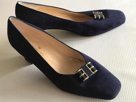 Zapatos Ferraro Calzature Vestir Gamuza Nro. 40 Dama