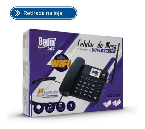 Imagem 1 de 2 de Telefone Rural Com Internet Roteador Wi-fi Bdf-12 + Cabo 10m
