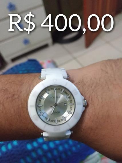 Relógio Touch Cerâmica E Safira