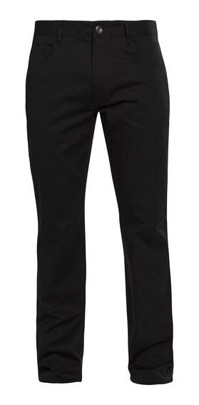 Pantalon Hombre Negro Chino Formal Casual Stretch 90301