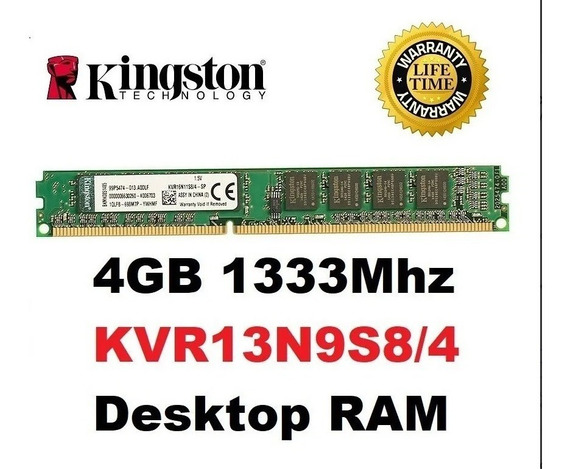 Memória Ram 4gb 1x4gb Kingston Kvr13n9s8/4