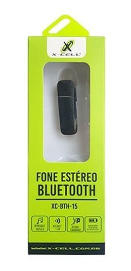Fone De Ouvido Estéreo Bluetooth X-cell - Xc-bth- 15 Preto.
