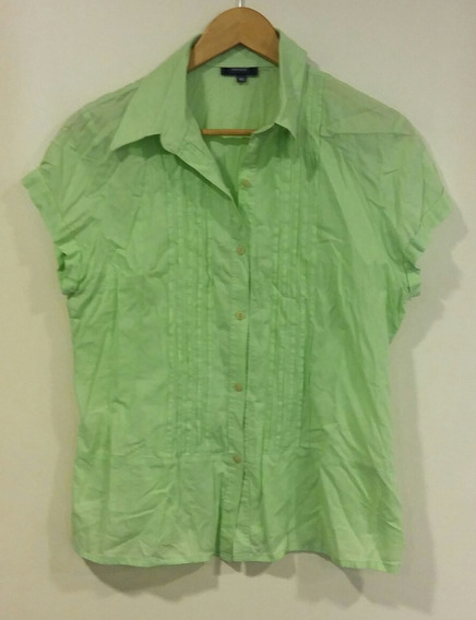 Camisa Verde Limón Evoque Talle 46