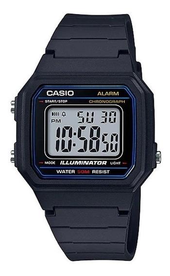 Relogio Casio W-217h-1 Alarm Crono Data Luz Wr50m Retro Vint