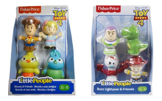 Little People 8fig Toy Story 4 Woody Buzz Y Sus Amigos 2pack