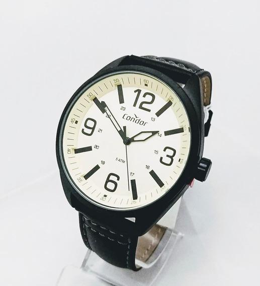 Relógio Condor Preto Couro - Co2035mpe2p
