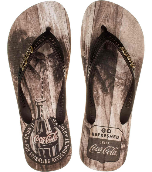 Chinelo Coca Cola Tropic Wood Masculino