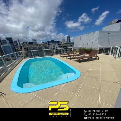 (oportunidade) Apartamento No Cabo Branco Com 2 Quartos - Ap4144