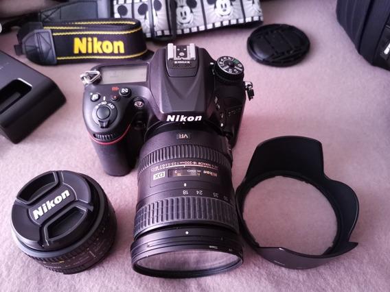 Nikon D7200 (c/ 32gb, Lentes Nikkor E Flash Triopo Tr-586ex)