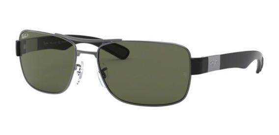 Oculos Sol Ray Ban Rb3522 004/9a 64 Grafite Verde Polarizada