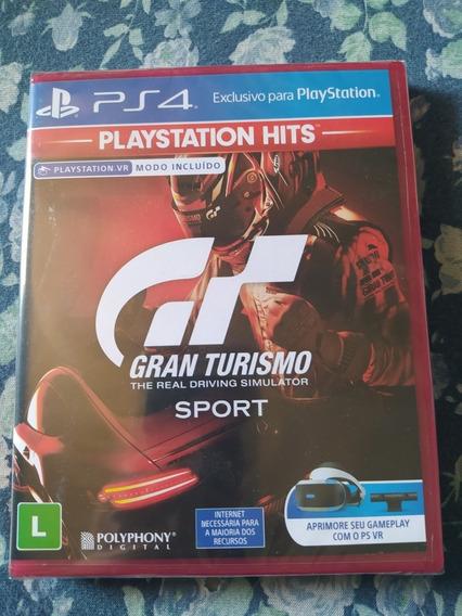 Jogo Gran Turismo Sport Ps4 Mídia Física