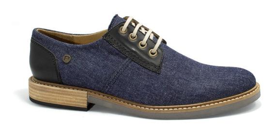 Zapatos Hombre Pasotti Informal Tela Jeans Forrado En Cuero Promoción