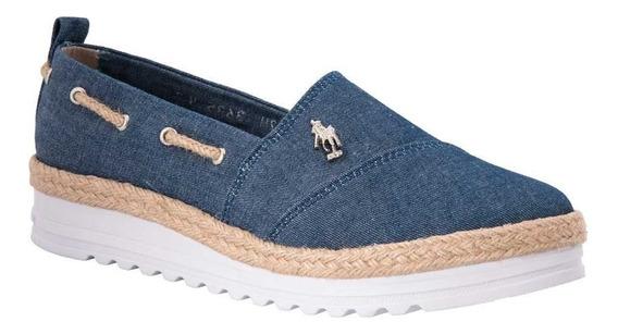 Zapato Casual Hpc Polo 3635 Azul Mezclilla Textil Ves 170336