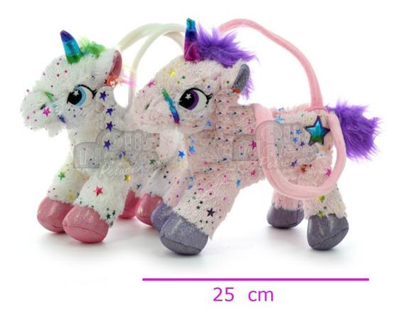 Cartera Unicornio De Peluche Divina Con Estrellas !!
