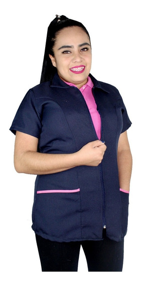 Bata Filipina Tela Repelente Corta Estilista Negra Tallas