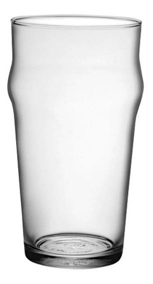 Set X2 Vasos Cerveza Vidrio Pinta Stout Nonix Bormioli 580cc