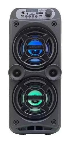 Alto-falante Grasep D-S12 portátil com bluetooth preto 110V/220V