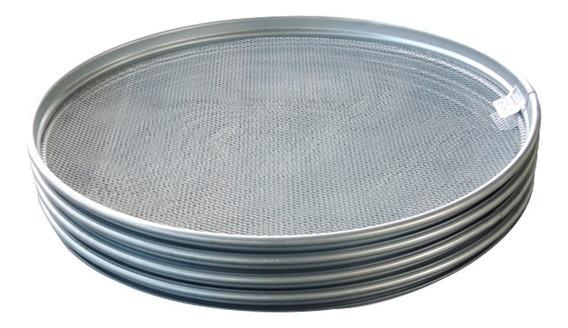 Kit Peneira Para Garimpo Aro Metal 55cm 4 Peças