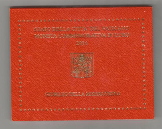 Blister Vaticano Moneda 2 Euros 2016 200º Gendarmería. S/c
