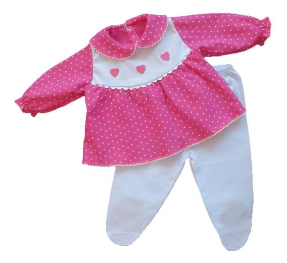 Conjunto Maternidade Bebê Menina Poá 100% Algodão