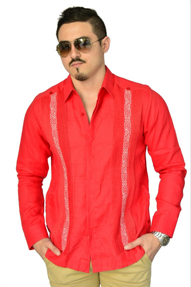Camisa Guayabera Yucateca Casual 100% Lino _cfknk11