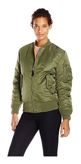 Chaqueta Estilo Aviador Reversible De Nylon Ma-1 Flight De A