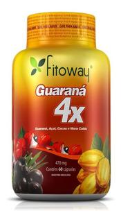 Guaraná 4x - Mana Cubiu, Açaí, Cacau - Fitoway - 60 Cápsulas