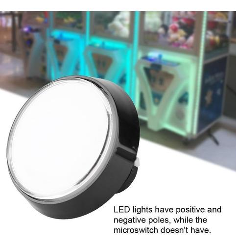 Imagen 1 de 9 de 60 Mm Grande Redondo Led Iluminado Pulsador Con Microinterru