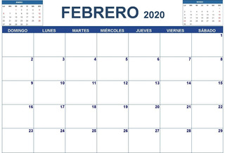 Planeador Mensual 2020 Grande (tamaño A3)
