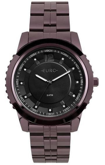 Relógio Euro Feminino Metal Glam Roxo - Eu2035yod/4p