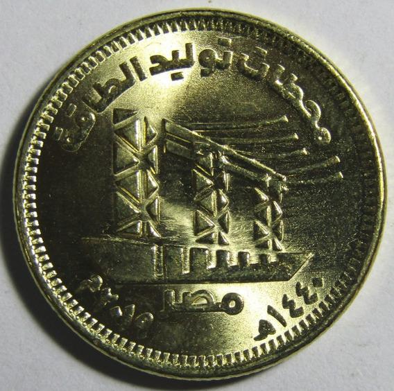 Egipto Moneda 50 Piastres 2019 Red Nacional De Rutas Unc