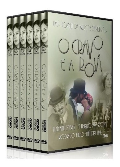Novela O Cravo E A Rosa 30 Dvds Digital, Lindo Box!