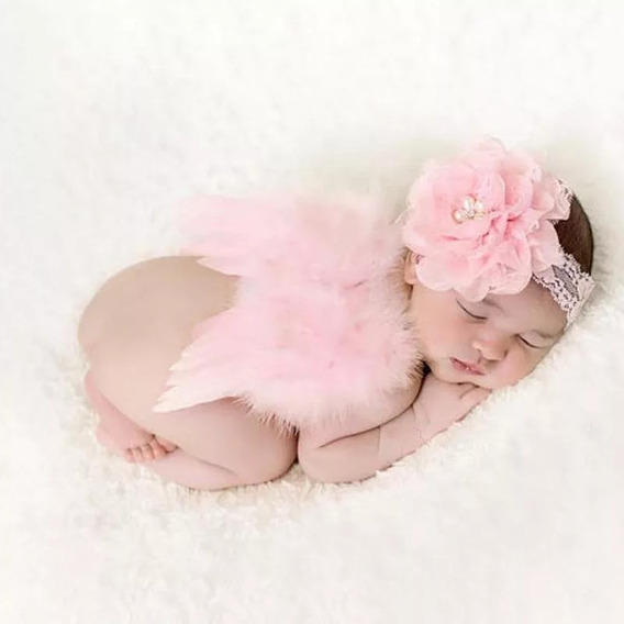 Asa De Anjo E Saia De Tutu Para Ensaio Newborn Fotos Bebê