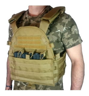 Chaleco Policial Militar Oslotex Plate Carrier Osl99 Coyote