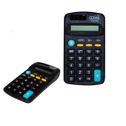 Kit 10 Mini Calculadora De Mesa Bolso Cla-402