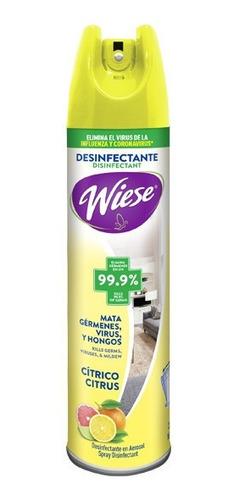 Desinfectante Wiese Spray Antibacterial Cítrico 323g/400ml