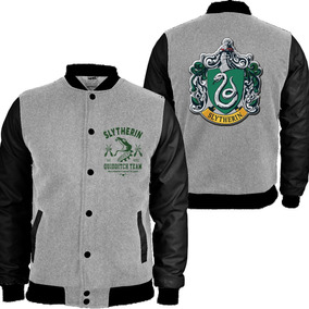 Blusa Moletom College Harry Potter Slytherin Sonserina Lux