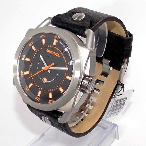 Relógio Diesel Dz1578z Aço Couro 100%original Garantia 2anos