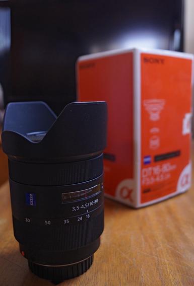 Lente Sony Zeiss 16 80 Vario Sonnar T Completinha Na Caixa!