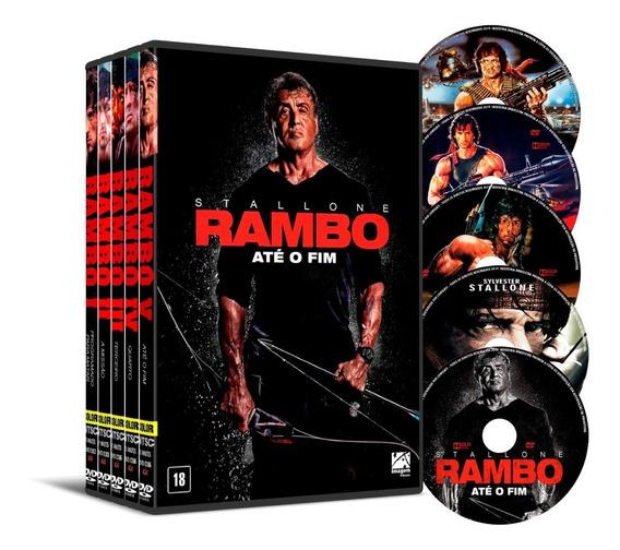 Dvd Coleção Clássico Rambo 5 Filmes Dual Áudio