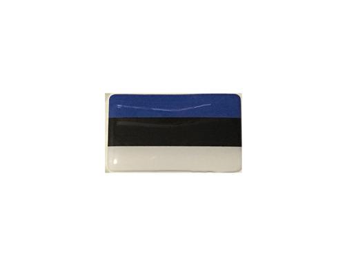 Adesivo Resinado Bandeira Da Estônia 9x6 Cm