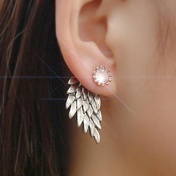 Brinco Feminino Ear Cuff Dourado Cristal Anjo Cristal C683