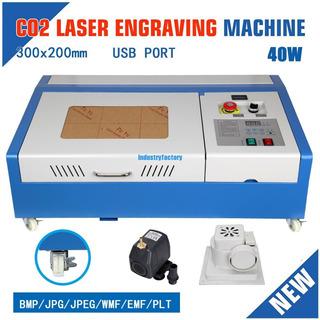 Maquina Grabadora Cortadora Co2 Laser 40w 300x200 12x8