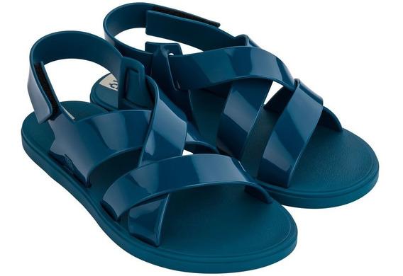 Sandália Rasteira Zaxy Go 17812 Azul Feminina